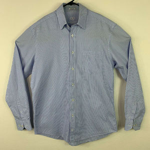 Bugatchi Uomo Long Sleeve Button Front Shirt Sz L